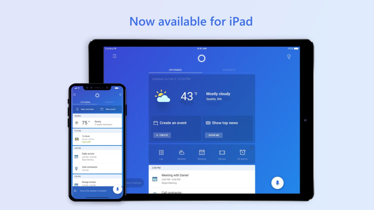 Cortana ya está disponible para instalar en iPad