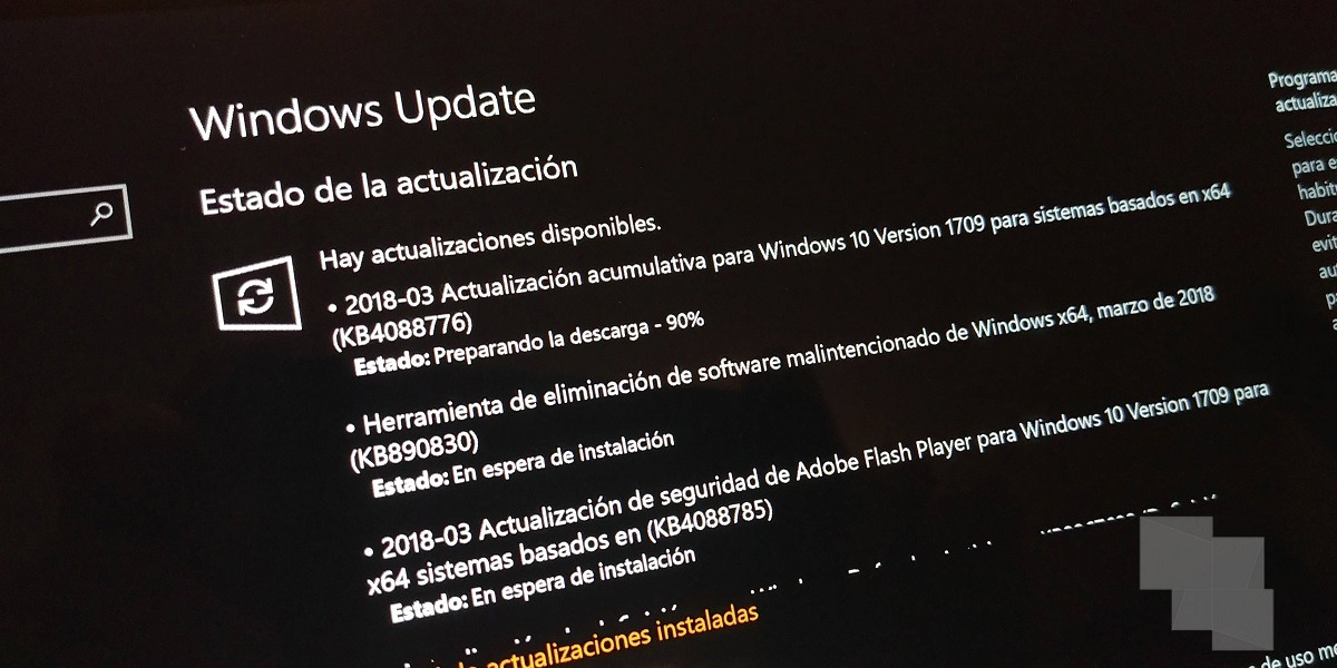 Lanzada la Build 16299.309 como acumulativa para Windows 10 Fall Creators Update