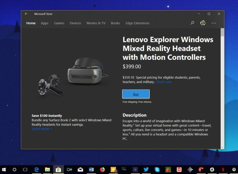 La nueva sección de dispositivos llega a la Microsoft Store de Windows 10