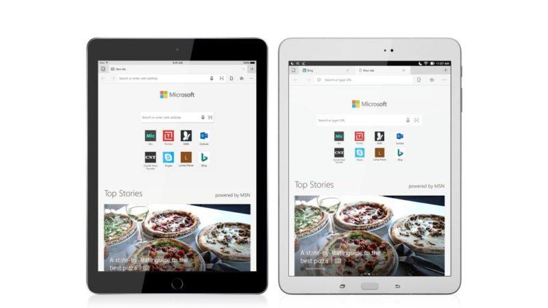 Microsoft Edge ya disponible para todos en iPads y tablets Android