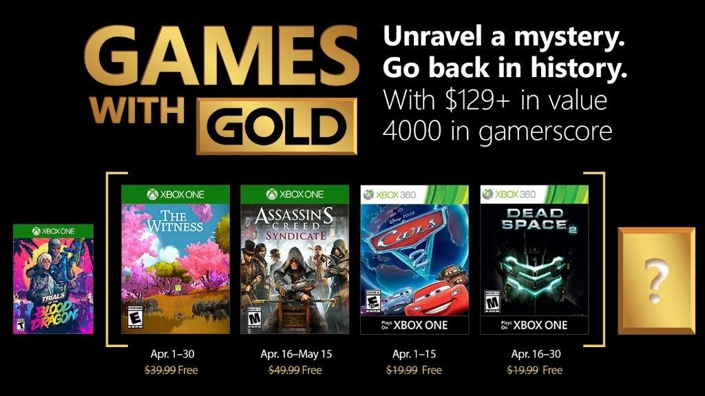 Games with Gold de Abril