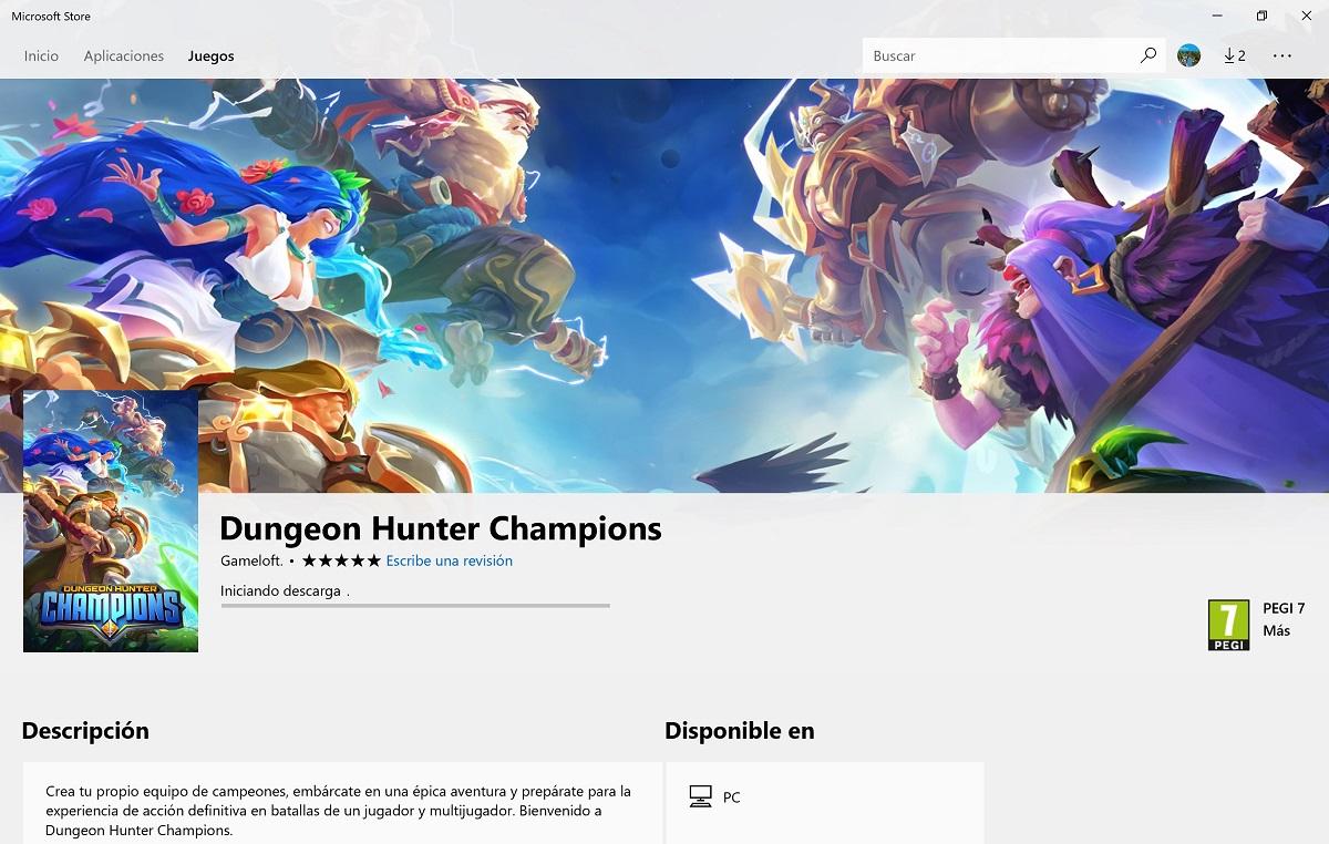 Dungeon Hunter Champions otro juego Gameloft que llega a Windows 10