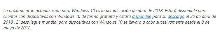 La April 2018 Update de Windows 10 llegará primero a través de las herramientas de accesibilidad