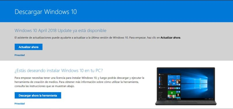 Descarga ya las ISOs oficiales de Windows 10 April 2018 Update con este truco