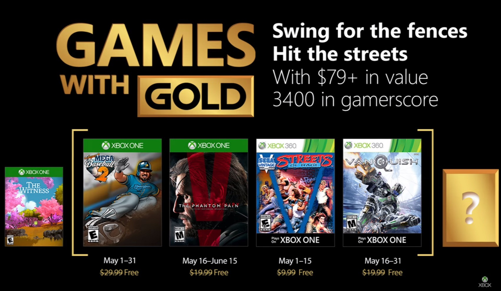 Ya conocemos los Games With Gold de Mayo de 2018 para Xbox