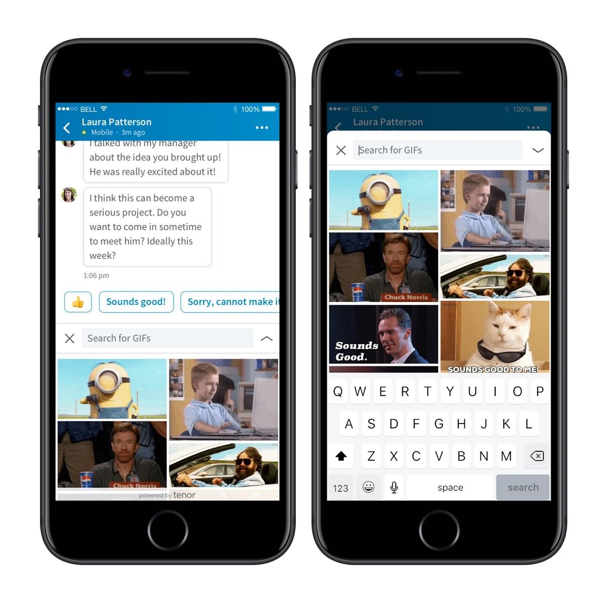 LinkedIn añade GIFs a su sistema de mensajes
