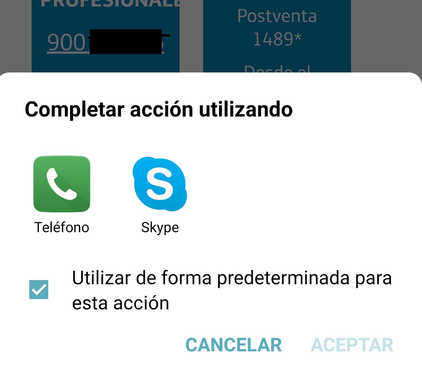 Skype para Android ya aparece entre las opciones de llamada