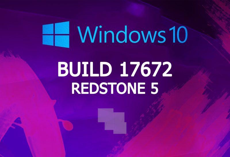 Build 17672 de Windows 10 Insider Preview (Redstone 5), ya disponible en los anillos rápido y Skip Ahead