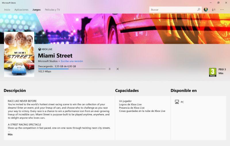 Miami Street, el nuevo exclusivo de Microsoft ya disponible en algunos países
