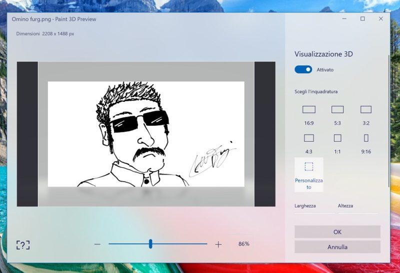 Paint 3D se actualiza renovando la página de guardado completamente