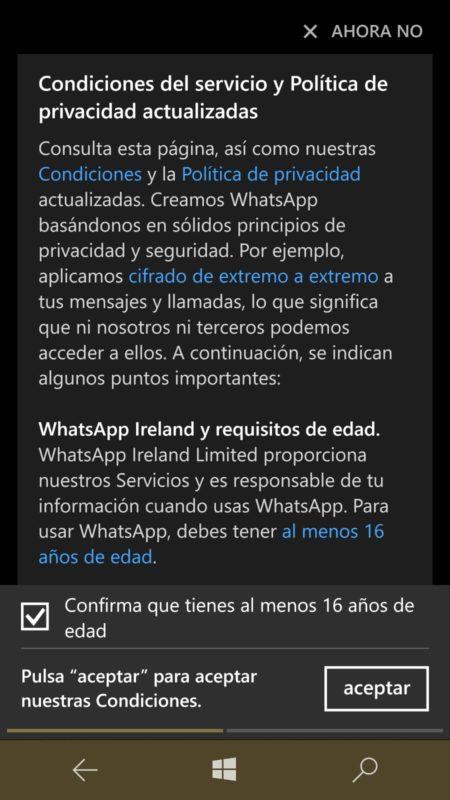 Estas son las anécdotas de WhatsApp(mensajeria) para cumplir con el RGPD
