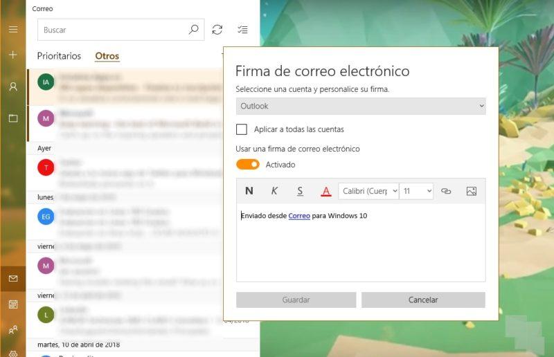 Correo y Calendario de Outlook recibe dos importantes novedades en la versión pública de Windows 10