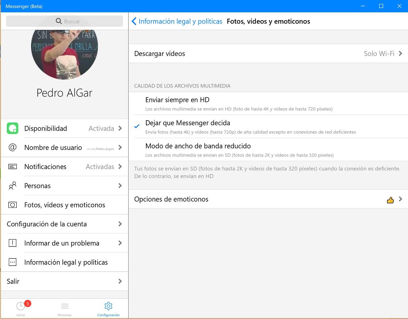Messenger Beta para Windows 10 se actualiza con envío multimedia 4K y otras novedades