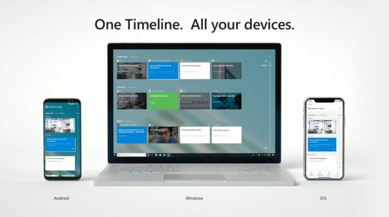 El soporte de Windows Timeline llegará a Android y iOS a final de año