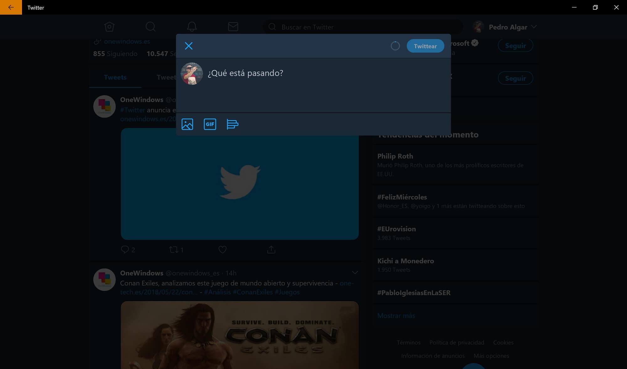 Twitter añade el modo nocturno entre sus novedades para Windows