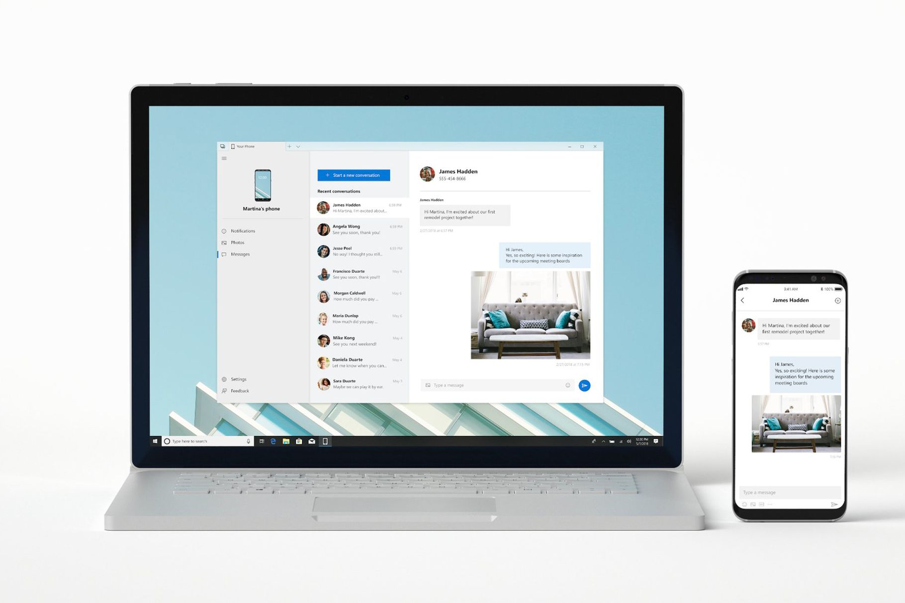 Your Phone app para Windows 10