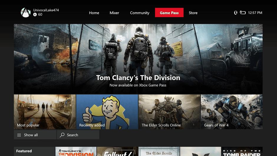 Xbox añade una pestaña para Game Pass en su última Build Insider