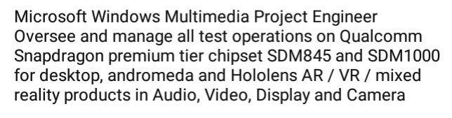 Qualcomm Snapdragon 1000 para probarse en PCs de escritorio, Andromeda y HoloLens