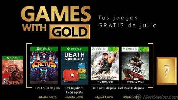 Estos son los Games With Gold para el mes de Julio