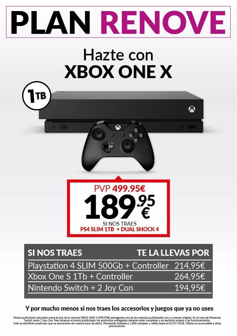 Plan Renove Xbox One X