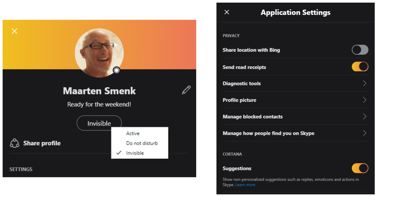 Skype Insider se actualiza con recibo de lectura de mensajes