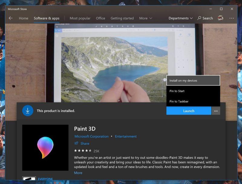 Mejoras en la interfaz e instalación remota de aplicaciones, novedades en la actualización de la Microsoft Store