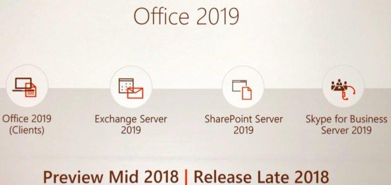 Ya disponible públicamente las vistas previas de productos Office 2019 Server