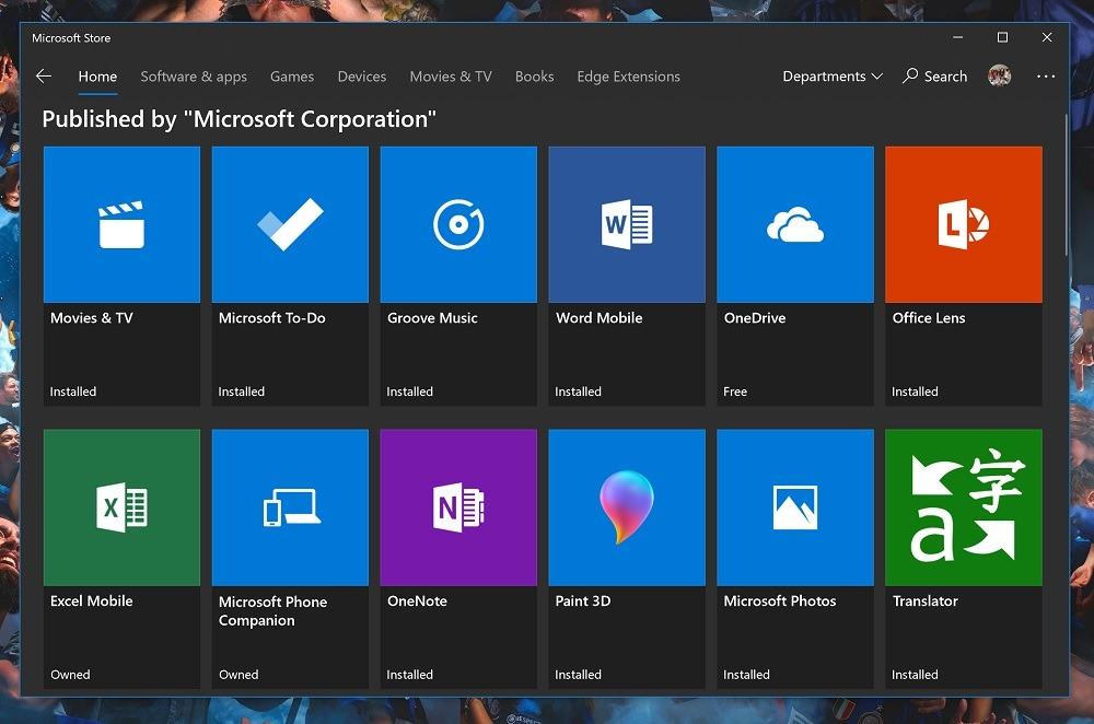 Microsoft sigue retocando la Tienda en el anillo Release Preview