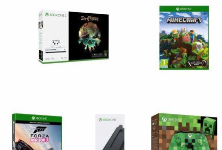 Xbox One S de 1 TB + 3 juegos + Soporte vertical + Mando adicional
