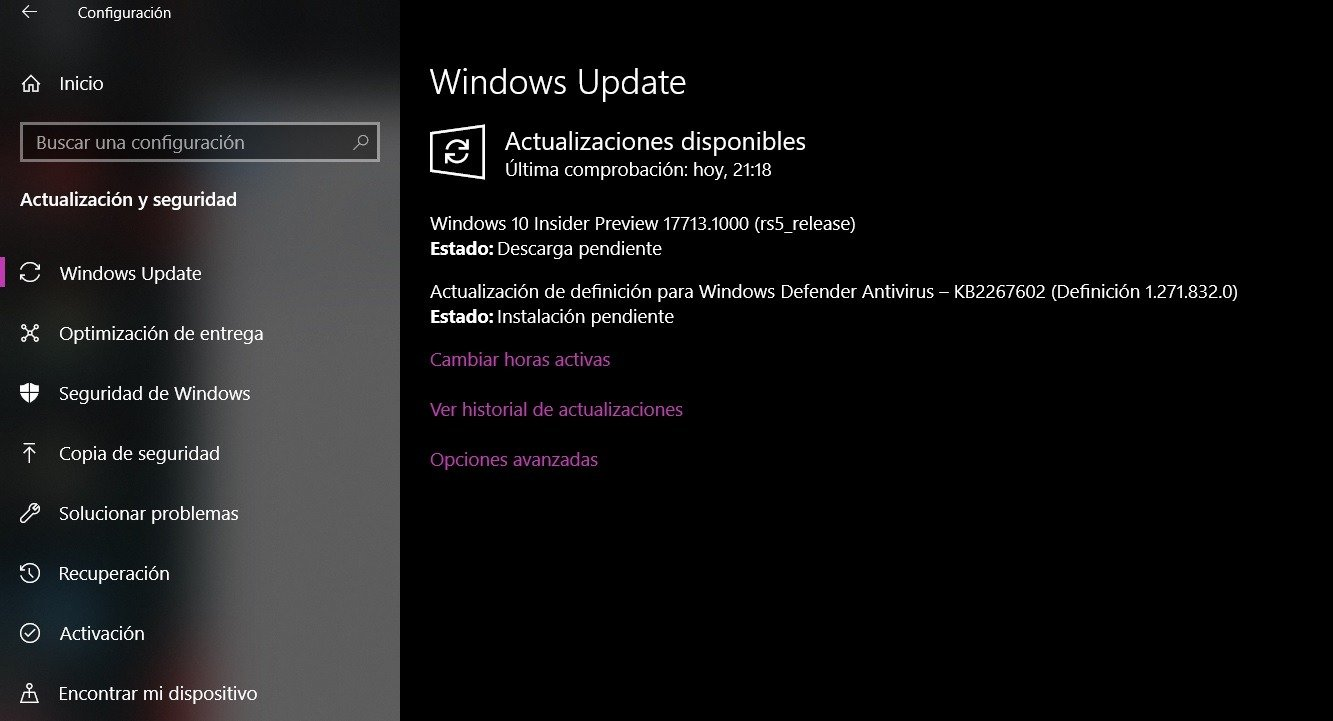La Build 17713 ya está disponible para el anillo rápido de Windows 10