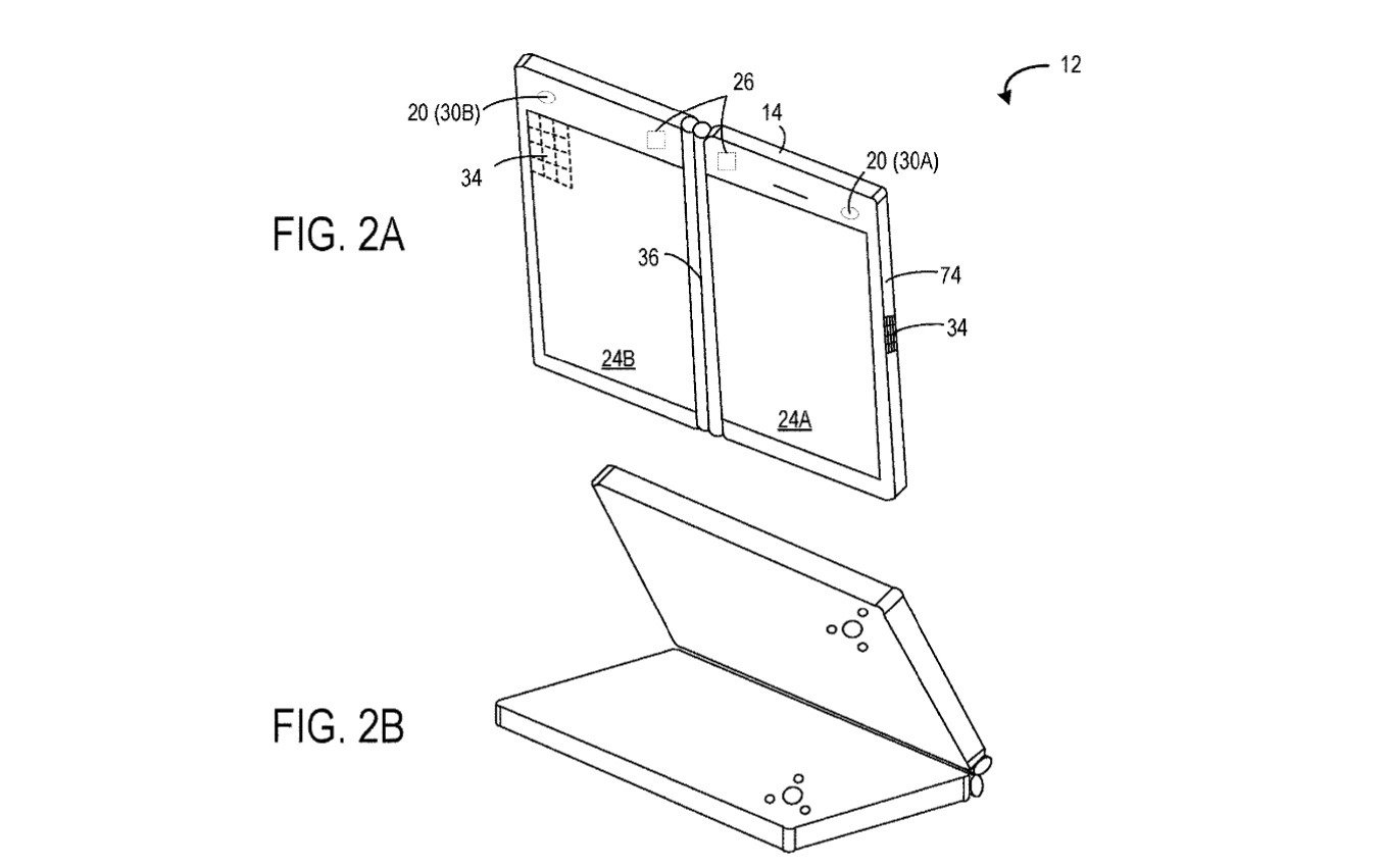 Microsoft patenta un terminal plegable para videollamadas a tres partes que nos trae recuerdos
