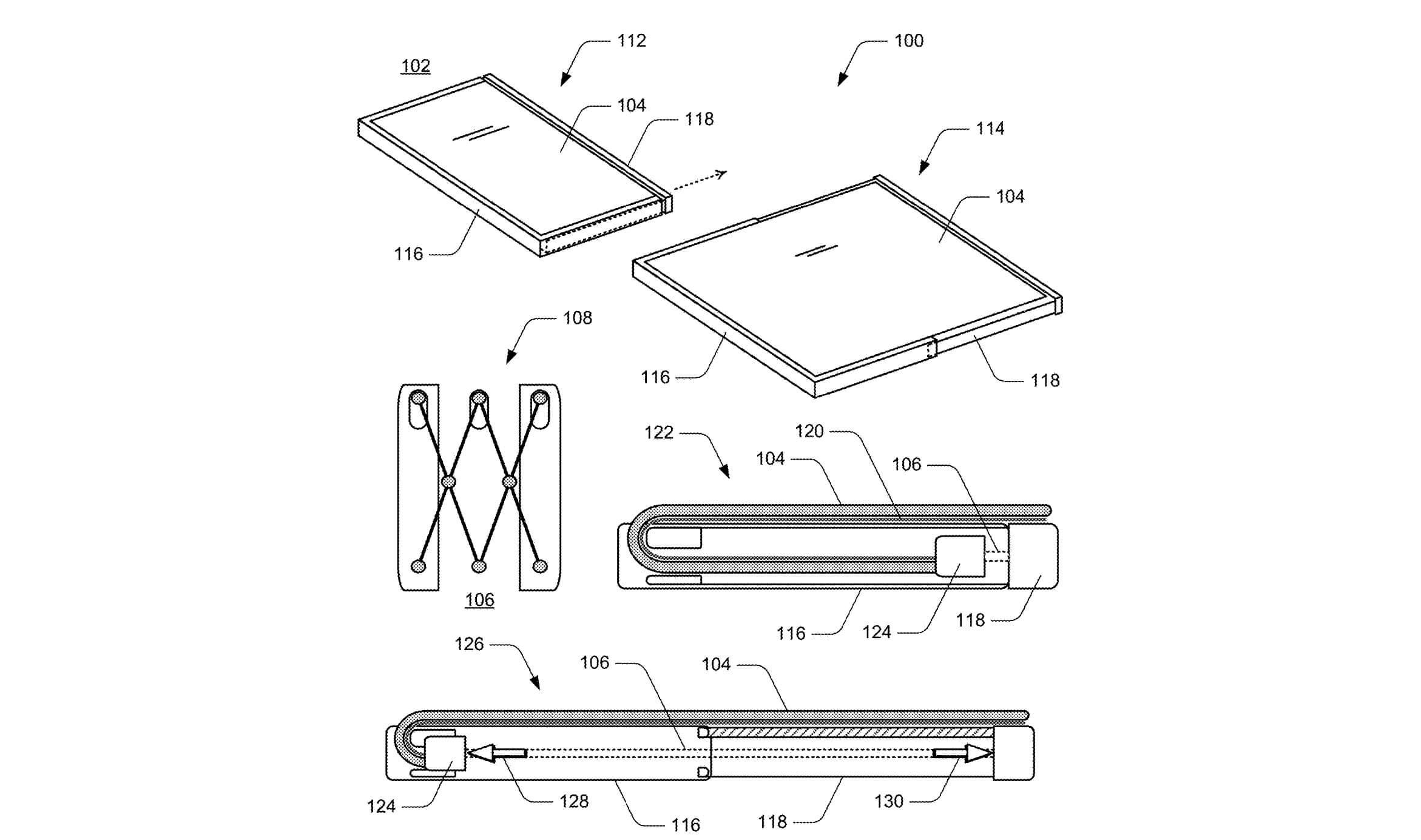 Microsoft patenta un dispositivo extensible con pantalla flexible