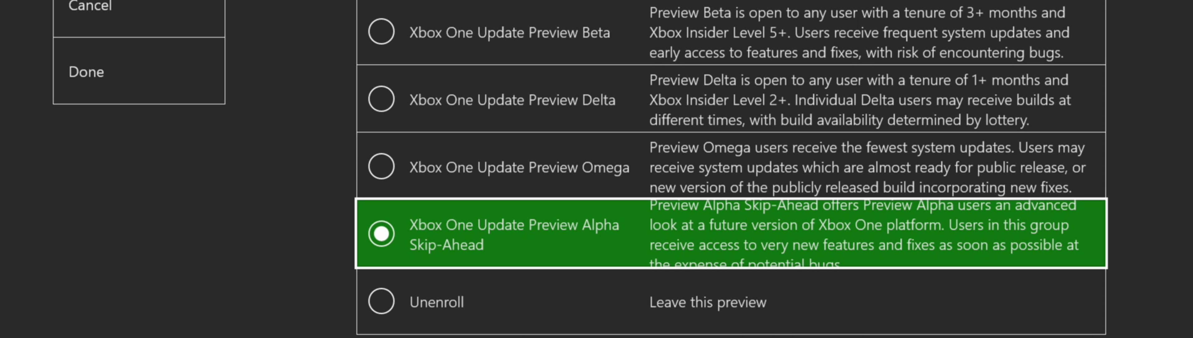 Alpha Skip Ahead