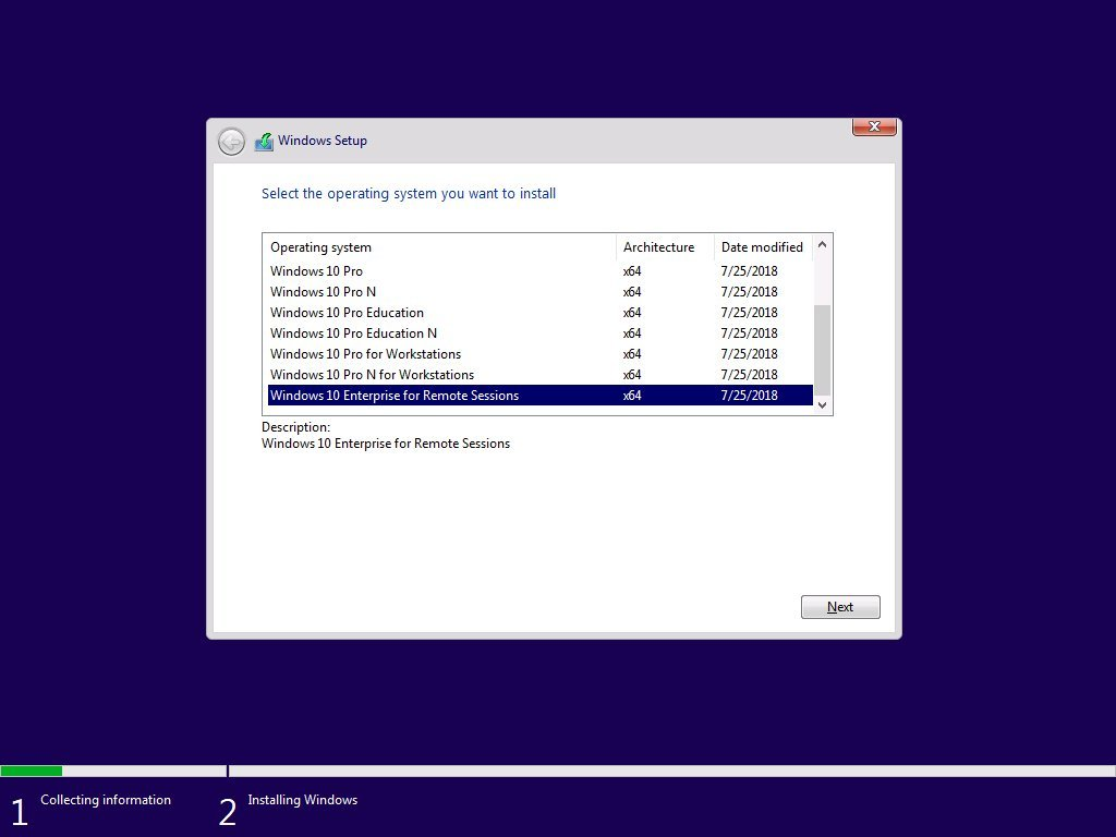 Windows 10 Enterprise for Remote Sessions