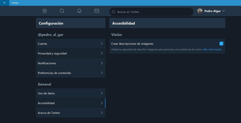 Twitter PWA añade una nueva función de Accesibilidad con descripción para imágenes