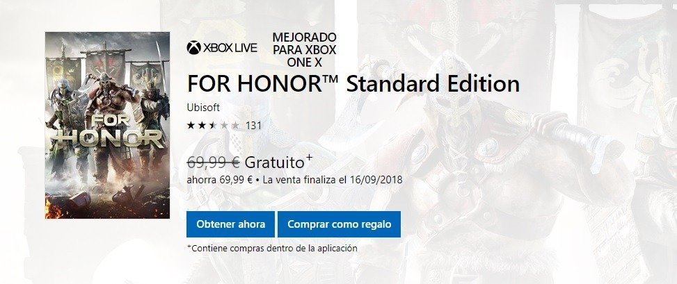 For Honor y Disney Epic Mickey El Poder de Dos, ya disponibles gratis con Games with Gold