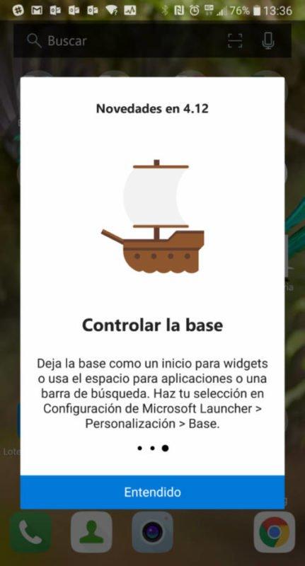 Microsoft Launcher se actualiza con filtrado web y muchas mejoras