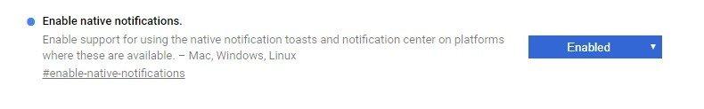 Chrome añade soporte para notificaciones nativas en Windows 10