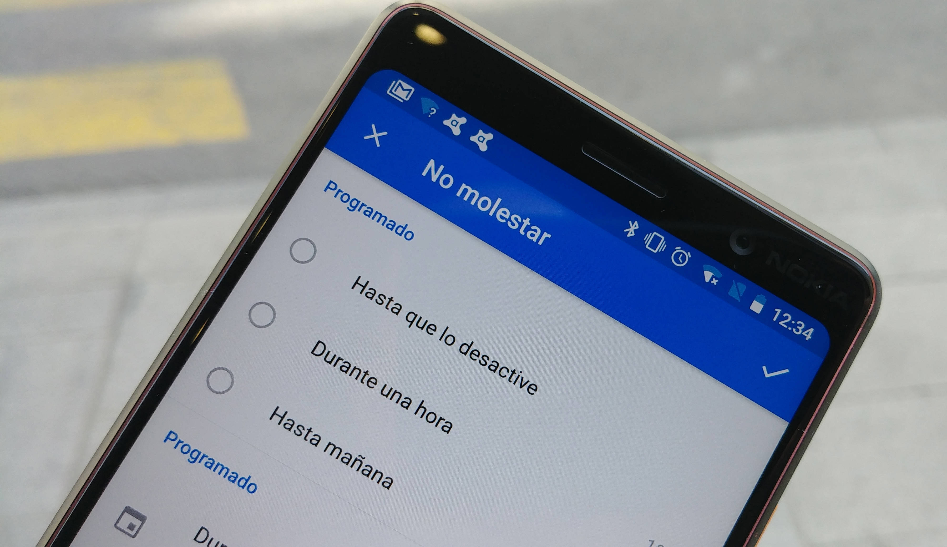Outlook modo No Molestar en Android