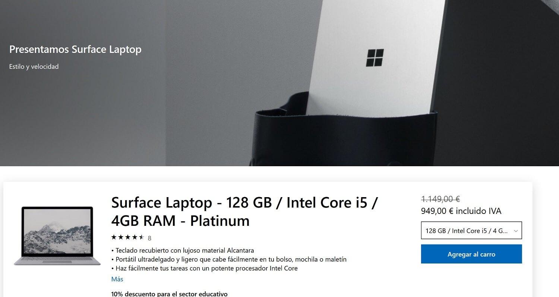 Ahorra 200€ en la compra de tu Surface Laptop en la Microsoft Store