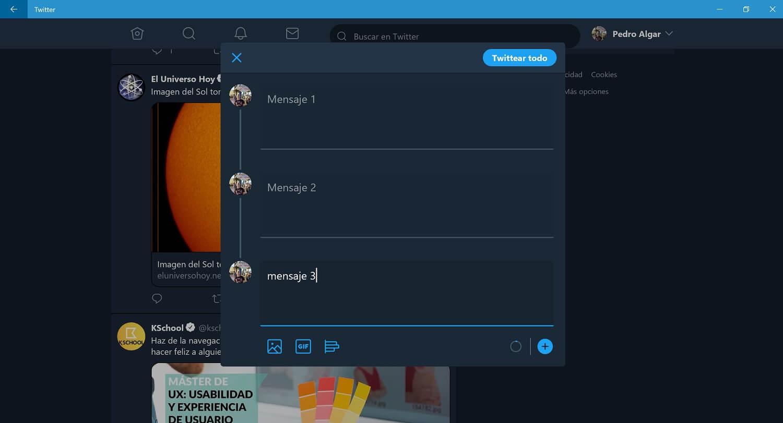 Twitter PWA para Windows 10 se actualiza y ya soporta Tweetstorm
