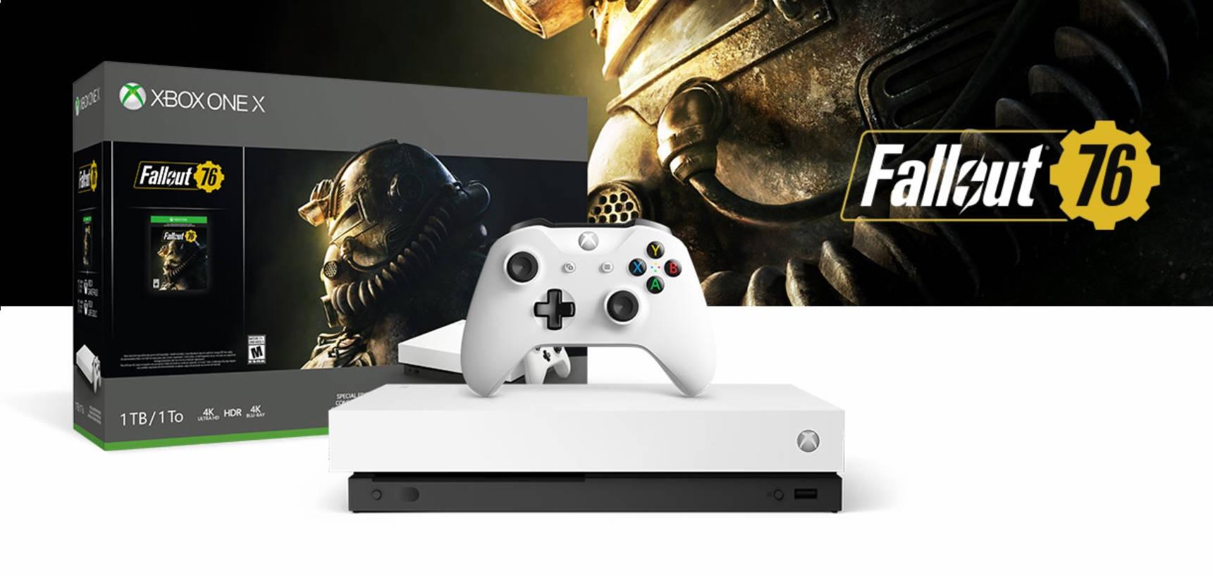 Xbox One X Robot White Edición especial Pack Fallout 76 (1TB)