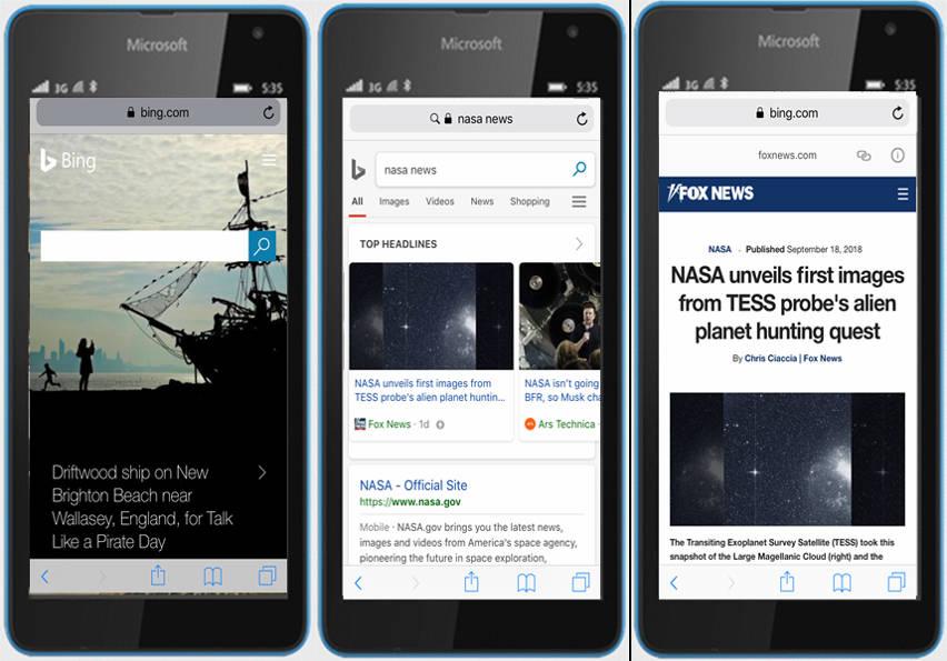 Bing ya te muestra resultados AMP en el móvil