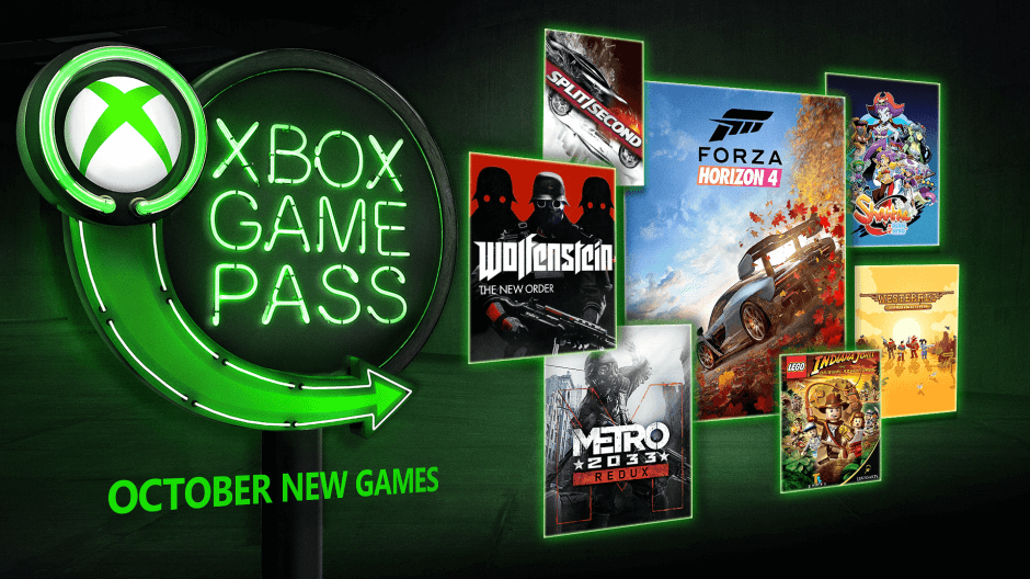 Xbox Game Pass, preparate para Forza Horizon 4, Wolfenstein, Metro 2033 y más, en Octubre