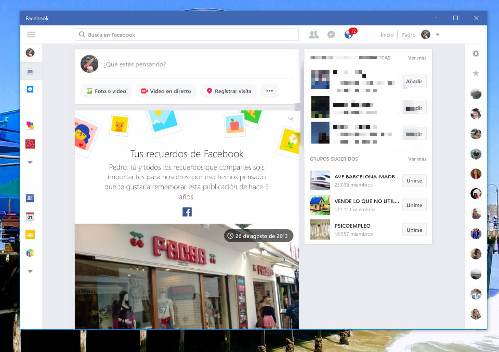 Facebook para Windows 10 se actualiza con varias novedades