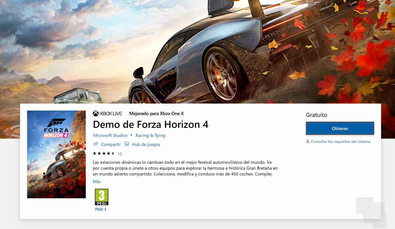 Forza Horizon 4 pasa a Gold y ya puedes jugar gratis a su demo
