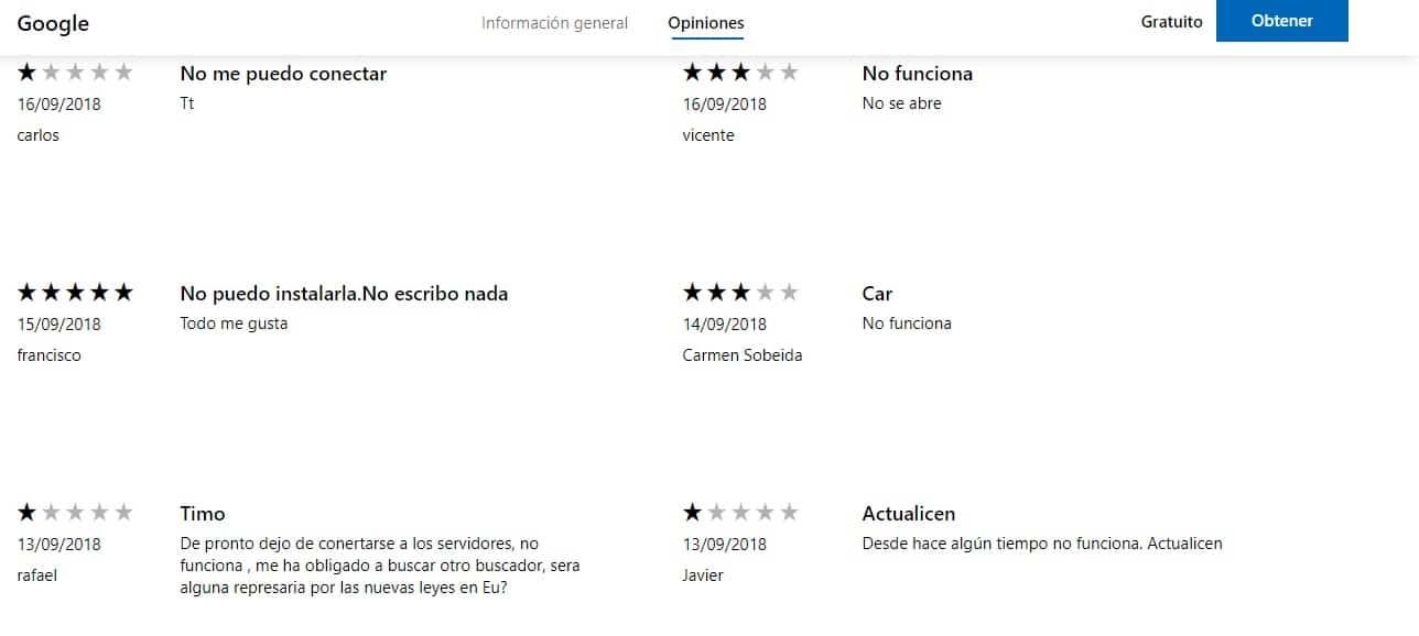 La app de Google deja de funcionar en Windows Phone