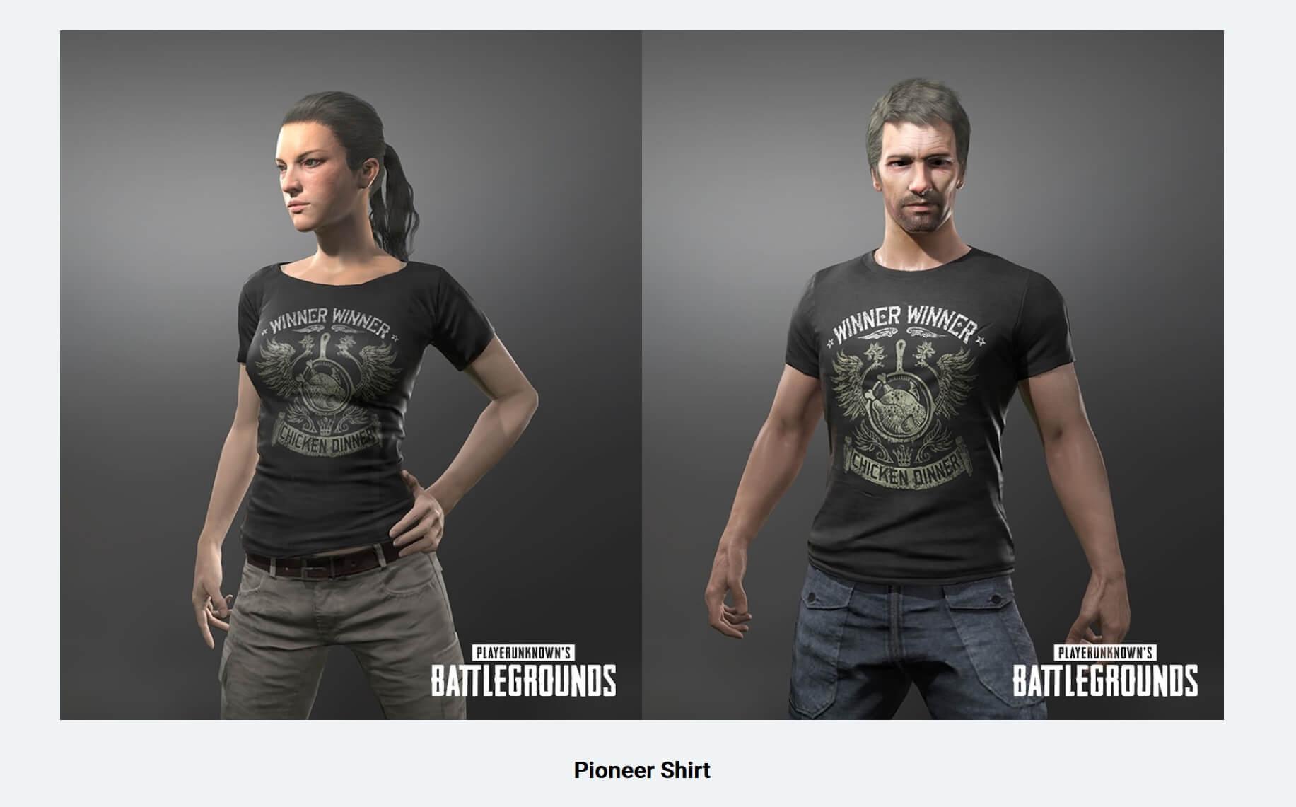 PUBG Pionner Shirt