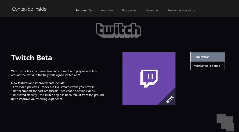Twitch para Xbox One