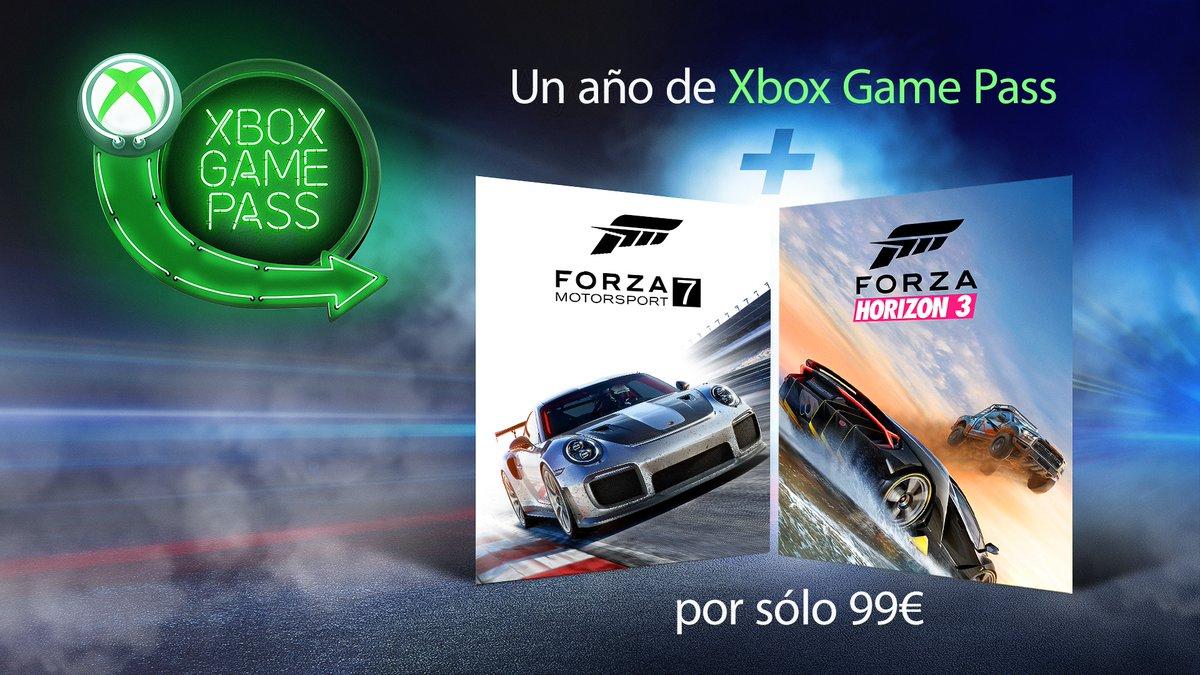 Forza Motorsport 7 y Forza Horizon 3, gratis con la nueva promo de Xbox Game Pass